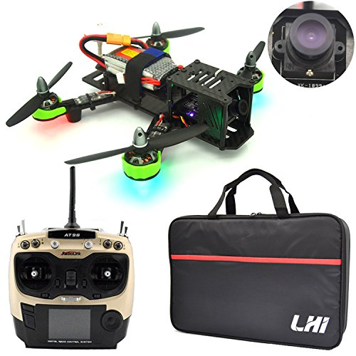 LHI FPV RTF Full Carbon Fiber 220 mm Quadcopter Race Copter Racing Drone with Radiolink AT9S Remote Controller 1000TVL Camera TS5828(Assembled) -