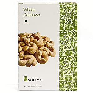 Amazon Brand – Solimo Premium Cashews, 250g