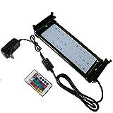 D@Qyn Luci per Acquari A LED per Serbatoi di Pesce Illuminazione A Colori RGB Illuminazione per Pesci E Piante Acquatiche Luce A LED,94Cm