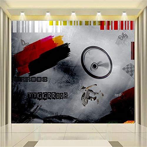 zyyaky Tapetenwandbild Kinderzimmer Vlies Wandaufkleber Kinder Skateboard Malerei Sofa TV Hintergrund Tapeten, 400 * 280Cm