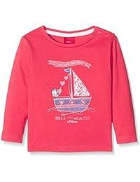 s.Oliver Baby-Mädchen Langarmshirt T-Shirt Langarm, Rosa (Purple/Pink 4518), 68