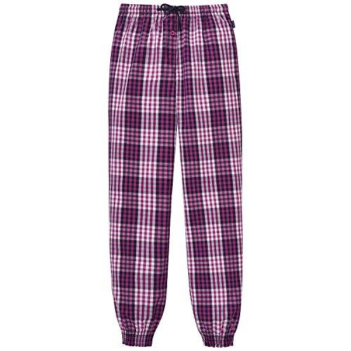 Schiesser Mädchen Schlafanzughose Mix&Relax Web Pants, Rot (Fuchsia 508), 152