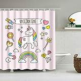 xkjymx Colorato Stellato Copriletto Appeso Tapestry Art Cartoon Pattern Tenda da Doccia Rosa Lavaggio Bagno