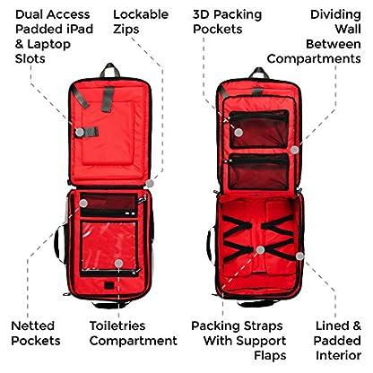 51n4Lb ZPFL. SS416  - Perth 45x35x20cm Anti-Theft mochila y bolsa de viaje de viaje