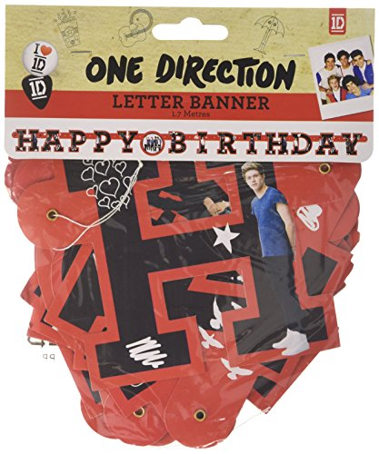 Amscan 1,7 m x 11 cm One Direction Happy Birthday Letter Banner