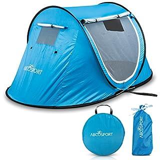 Pop-Up-Zelt, automatisches, tragbares Cabana-Beach-Zelt–für bis zu 2Personen geeignet–Türen auf beiden Seiten–wasserabweisend, Sonnenschutz mit UV-Schutz–mit Tragetasche, steht in Sekunden.