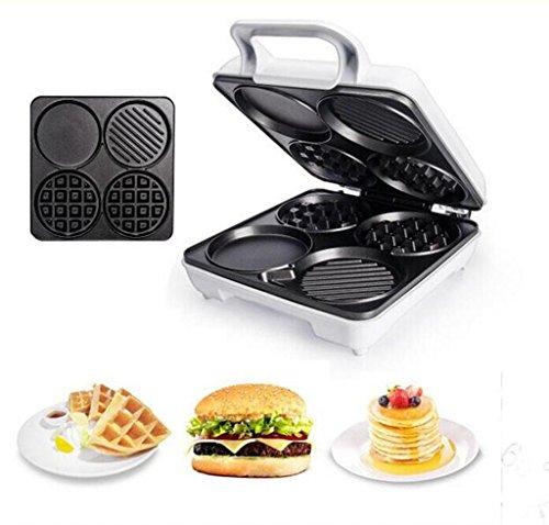 Einzelne Diamant-rack (Home multifunktionale Waffel Maschine Muffins Maschine Pfannkuchen Maschine Frühstück Maschine Toaster eine Mini-Kuchen Maschine Barbecue gegrillte Wurst Maschine)