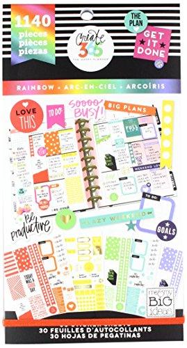 Me and My Big Ideas Super Pack de Pegatinas Rainbow Happy Planner 4e166c5edcf