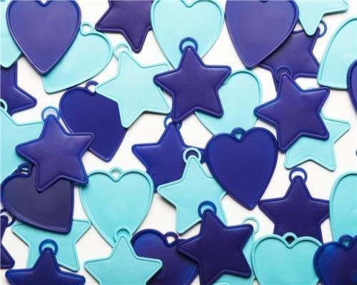 Premium plastique Poids ballon - 8 GRAMME variés bleu (paquet de 10)