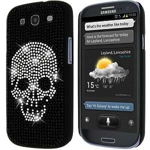 Mocca Design Strass Coque pour Samsung Galaxy S3 Motif Tête de Mort