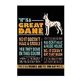 Spreadshirt Deutsche Dogge Great Dane Hunde Poster 60x90 cm, Weiß