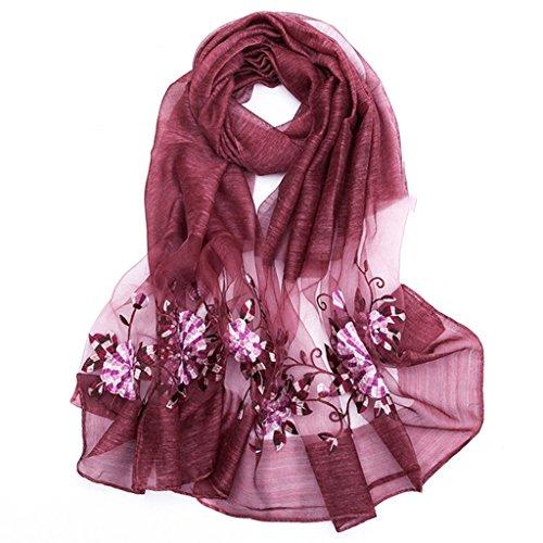 serviette de plage Broderie en soie de haute qualité pour femmes Échelle longue écharpe Foulard sauvage ( Couleur : #1 ) #11