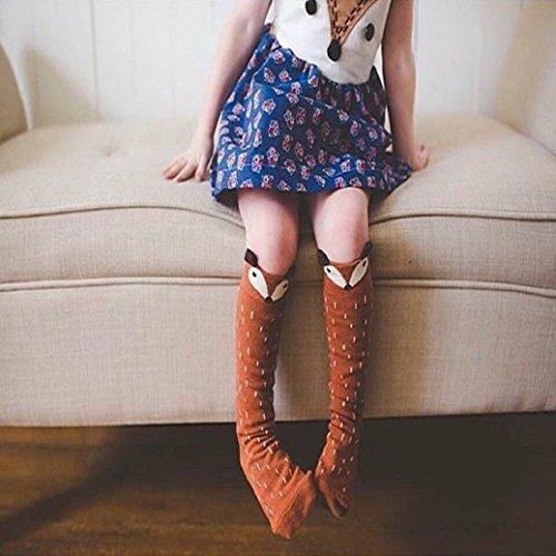 Fulltime® Les tout-petits Fox Kids Motif Chaussettes montantes - âge 4-6 ans (café) Café