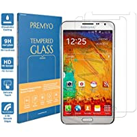 PREMYO [2 Pièces] verre trempé Note 3. Film protection Galaxy Note 3 avec un degré de dureté de 9H et des angles arrondis 2,5D. Protection écran Note 3