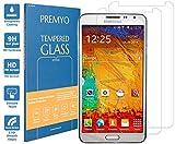 PREMYO [2 Stück] Samsung Galaxy Note 3 Panzerglas. Galaxy Note 3 Schutzfolie mit Härtegrad 9H und abgerundeten Ecken 2,5D. Note 3 Schutzglas