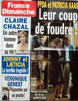 AFFICHE DE PRESSE - P. POIVRE D'ARVOR ET PATRICIA KASS - CLAIRE CHAZAL - JOHNNY ET LAETICIA - VERONIQUE GENEST.