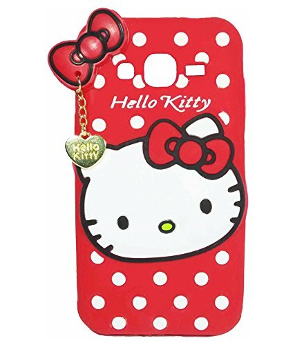 Harcharan sales Cover's For Samsung Galaxy A5 2016 Back Cover Hello Kitty Silicone With Pendant (Red)