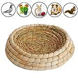 Gladot Bett für Kaninchen, Nistschale aus Natürliches Material, Tauben, Rassen Taube Nest Inkubation Bett für Geflügel/Henne/Hahn, Vogelnest, 25 * 25 * 6cm