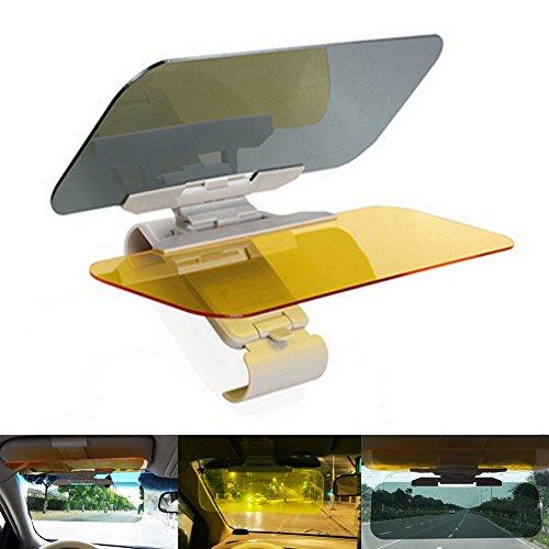 Visera y parasol para coche PINKOPINK, anti rayos UV, para día y noche, antideslumbrante, para espejo retrovisor de coche y asiento del conductor