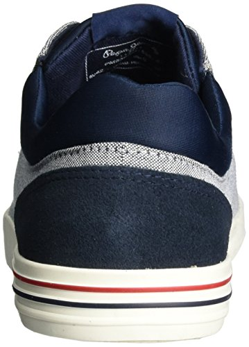 Pepe Jeans London North Fabric, Scarpe da Ginnastica Basse Uomo Blu (Navy)