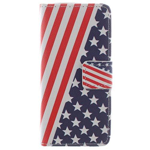 CaseLike Colored disegno Premium PU Pelle Flip Custodia Protettiva Case Cover Per Apple iPhone 55S Wallet con Card Slots & Cash Scomparto, Supporto dual Shell iphone55s#1 iphone55s#36