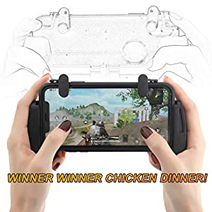 ZOEMO All Metal PUBG Mobile Trigger, Mobile Game Controller mit Triggern und Gamepad für PUBG/Call of Duty/Fotnite Verbesserte Version für iPhone iOS/Android