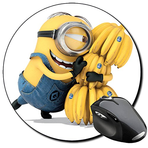 Despicable Me Gru Minions O Mauspad Round Mousepad PC