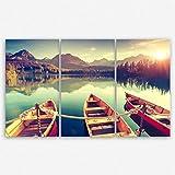 ge Bildet® hochwertiges Leinwandbild XXL - Tatra Nationalpark in der Slowakei - 165 x 100 cm mehrteilig (3 teilig)| Wanddeko Wandbild Wandbilder Wohnzimmer deko Bild | 2214 D