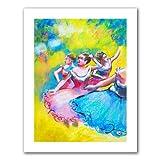 Art Wandbild 'Interpretation von drei Ballerinas von Edgar Degas' von Susi Franco Brillanz Leinwandbild, 36 by 28-Inch