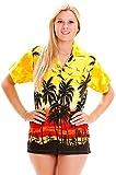 V.H.O. Funky Hawaiihemd Hawaiibluse, Beach, Gelb, XXL