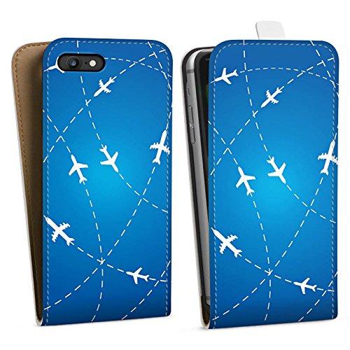 Apple iPhone 7 Silikon Hülle Case Schutzhülle Flugzeug Reise Urlaub Downflip Tasche weiß