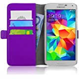 Samsung Galaxy S5 / S5 Neo, JAMMYLIZARD Luxuriöse Ledertasche Flip Cover, LILA