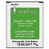 GadFull Akku für Samsung Galaxy S3 | 2017 Baujahr | Wie EB-L1G6LLU | Galaxy S3 i9300 | Galaxy S3 LTE i9305 | Batterie Accu Battery