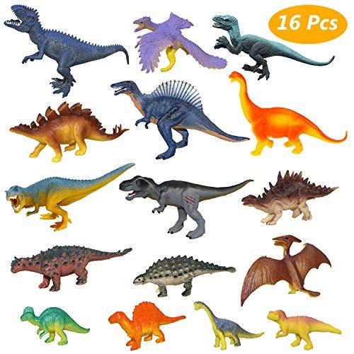 Estela Juego de Dinosaurios, 16 PCS Dinosaurios de...