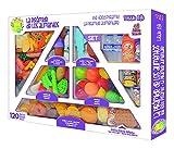 Tachan - Set de 120 piezas de pirámide alimenticia, multicolor...