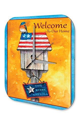 Orologio da parete Uccello Birdhouse Welcome incantesimo