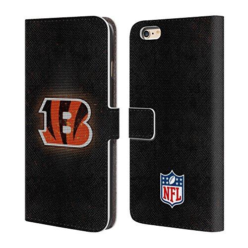 Ufficiale NFL LED 2017/18 Cincinnati Bengals Cover a portafoglio in pelle per Apple iPhone 4 / 4S LED