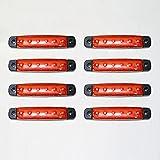 CarJoy RSM12V8 12V LED Lichter Seitenmarkierungslichter Bus Anhänger LKW Chassis Camper Rot 8