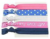 BONAMART ® 5 PCS Mädchen Elastisch Zopfband Haarband Haarschmuck Hair Tie Zopfgummi Rasta Pastell 24714