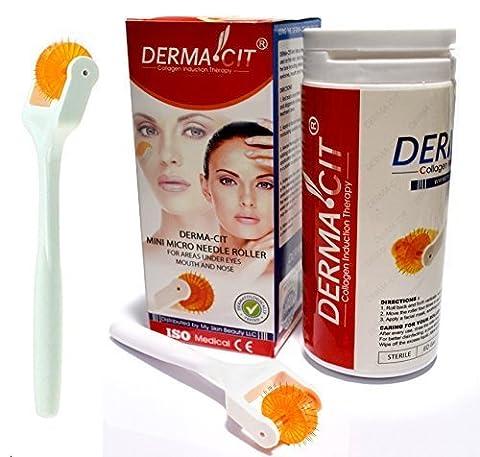 derma-cit ® Micro aiguille Rouleau Eye Soin pour la peau thérapie Système Aiguilles en alliage de titane pour Yeux, Nez et la Bouche et les zones (0.25mm)