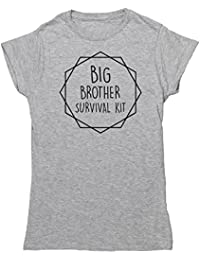 Hippowarehouse Big Brother Survival Kit Kit Womens Fitted Short Sleeve t-Shirt (Specific Size Guide In Description)