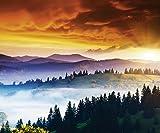 Artland Qualität I Alu Küchenrückwand Spritzschutz für die Küche 90 x 75 cm Landschaften Sonnenaufgang -untergang Foto Orange F1ZI Himmel Sturm