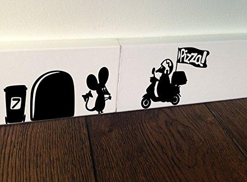 te/ Wandaufkleber in Italien-/ Pizza-Design, selbstklebend (Diy-cornhole-set)