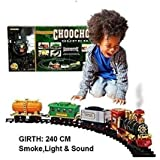 Hobnot Kid's Battery Operated Light Sound Smoke ChooChoo Classical Train With Track Set