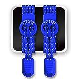 Elastische Schnürsenkel - ELECHOK Lace System Selbstbindende Schnürsenkel Mit Schnellverschluss - für Arbeitsschuhe,Stiefel,Turnschuhe und Wander - Blau