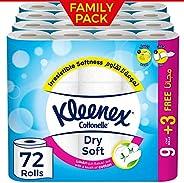 Kleenex Bath Tissue Dry Soft - (Pack of 12 Rolls) x 6, 200 Sheets x 2 Ply