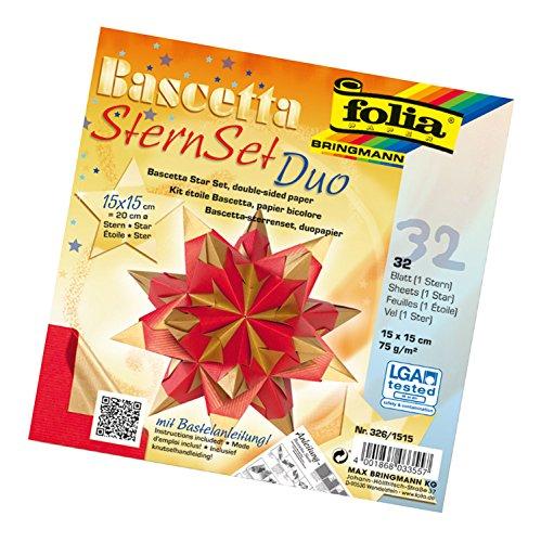 folia-326-1515-bastelset-bascetta-stern-duo-15-x-15-cm-32-blatt-rot-gold