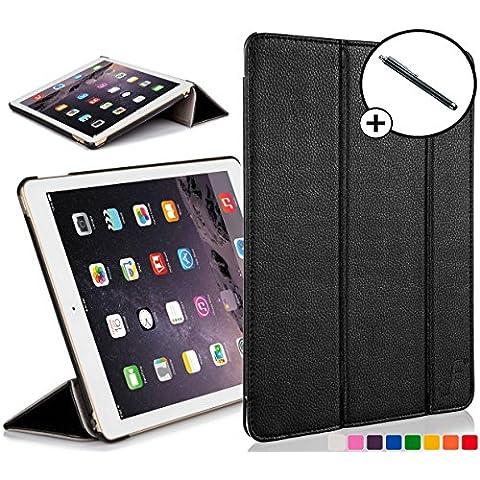 Forefront Cases® Apple iPad Air 1st Gen A1474 Funda Carcasa Stand Smart Case Cover Protectora Plegable de Cuero – Función automática inteligente de Suspensión/Encendido + Lápiz óptico