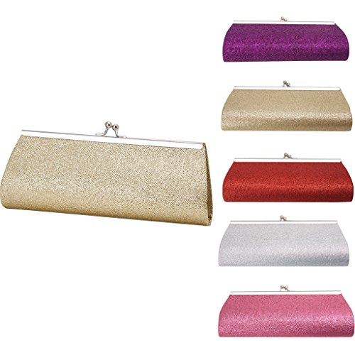hndhui Women 's Evening Glitter Bag Papierförmchen Clutch Party Prom Wedding Bankett Handbag New Rot