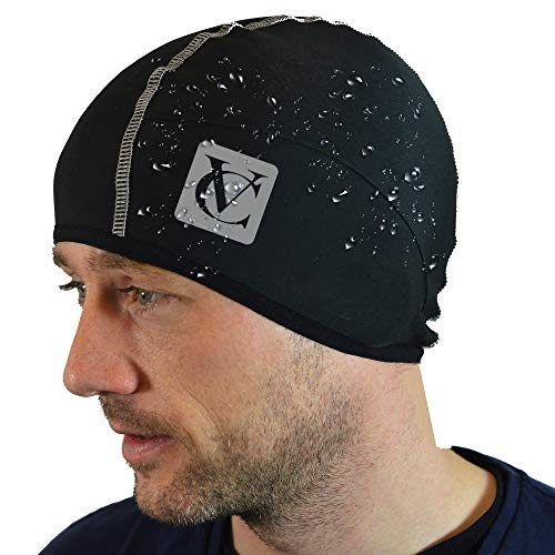 VeloChampion Thermo Tech Cycling Skull Cap - Windproof Thermal Under Helmet Hat - Stretchable Tight/Snug Fit Head Warmer - Ideal as Running Hat, Cycling Skull Cap or Sports Beanie